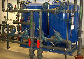 Pressure sand filters providing tertiary treatment at a wastewater reclamation facility